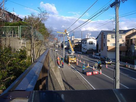 街灯復旧工事20161228