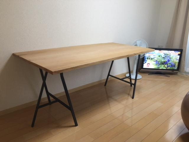 ケヤキテーブル1
