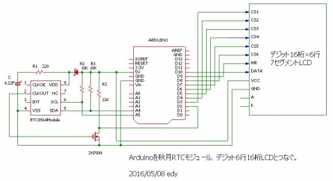 digitLCDと接続回路
