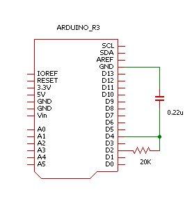 Arduinoシュミットインバータ回路