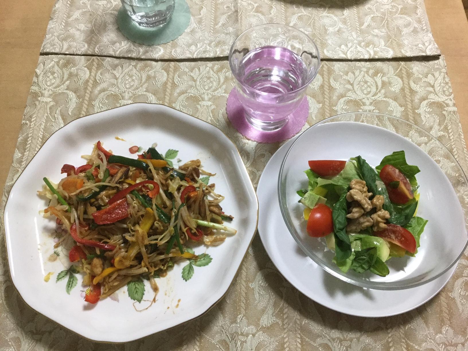 20161126r-サラダと野菜いため