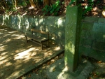 参道のベンチ