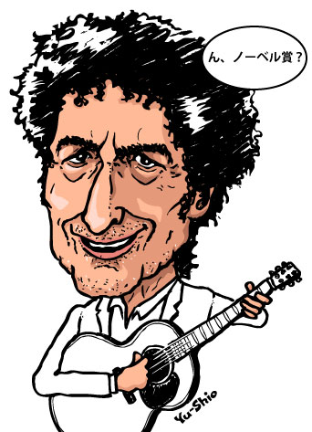 Bob Dylan caricature