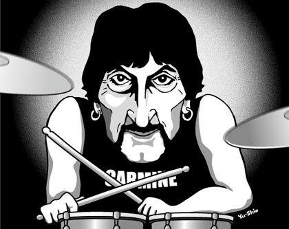 Carmine Appice caricature