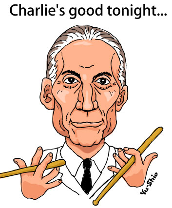 Charlie Watts Rolling Stones caricature