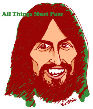 George Harrison caricature