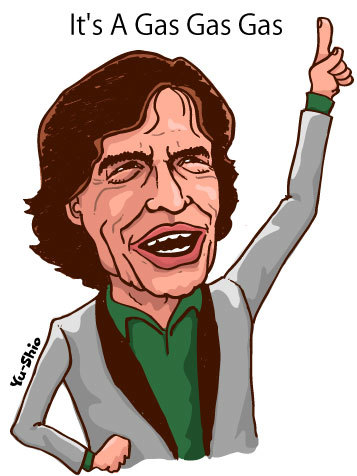 Mick Jagger Rolling Stones caricature
