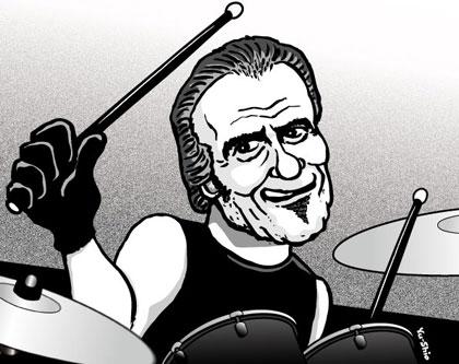 Tico Torres Bon Jovi caricature