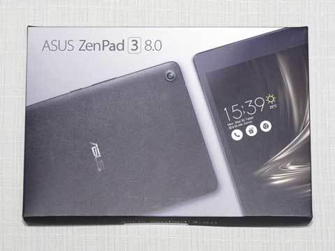 【ZenPad 3 8.0(Z581KL-BK32S4)】パッケージ