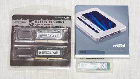 『W4N2400BMS-16G』+『SM961 MZVPW128HEGM-00000』+『MX300 CT275MX300SSD1』