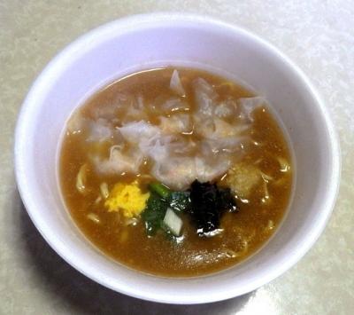 11/28発売 中華三昧PREMIUM 濃厚ふかひれ雲呑麺(できあがり)