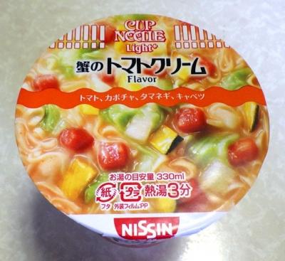 8/29発売 カップヌードル Light+ 蟹のトマトクリーム