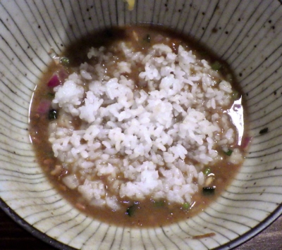 麺屋 頭上注意 ふすかけ1.8号 汁なし壱丁のまぜそば ~白トリュフの香り~(ライスダイブ)