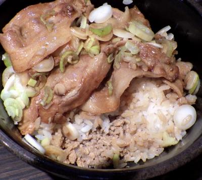 Porco e Frango ポルコ丼(鶏そぼろ)