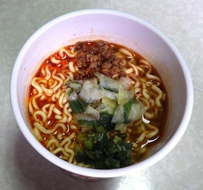 9/26発売 本気盛 スープが辛いねぎラーメン(できあがり)