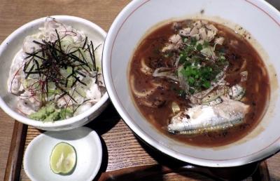 麺と心 7 サンマ白湯ラー麺 ~自家製もちもち太麺~