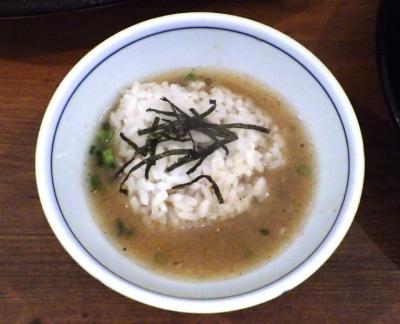 ロケットキッチン トリ塩つけ麺(締めご飯)