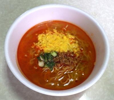 5/30発売 マルちゃん 正麺 カップ 辛こく塩担担麺(できあがり)