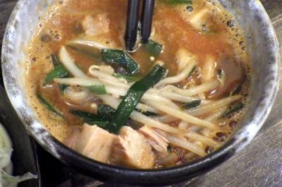 綿麺 フライデーナイト Part119 (16/11/11) 特製辛味噌☆豚骨つけ麺(つけ汁のアップ)