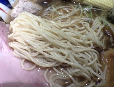 鶏Soba座銀 にぼし店 ボンゴレだし醤油 アサリのチカラ(麺のアップ)