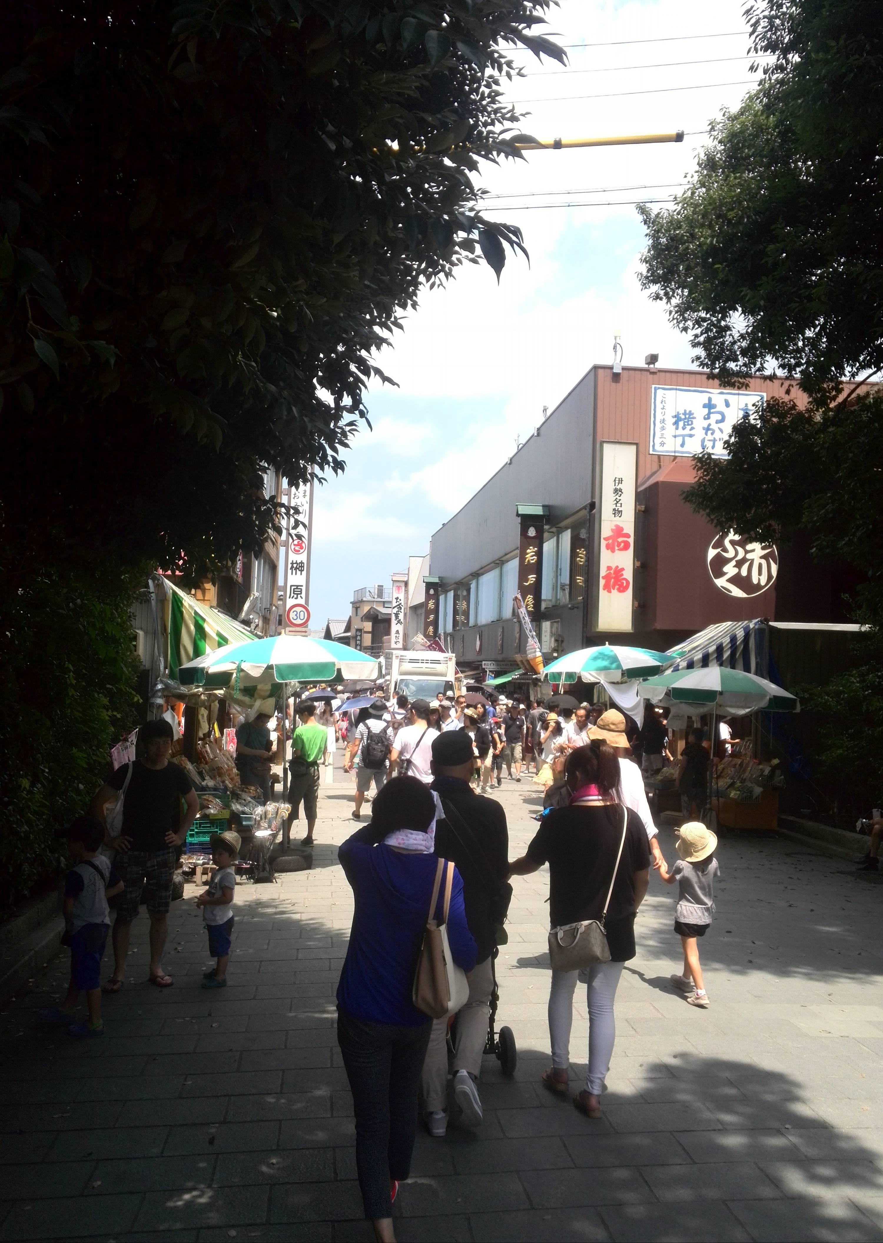 おはらい町とおかげ横丁は内宮の門前町である