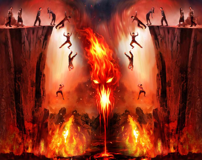 殺殺処に堕ちた者は、何回も男根を引き抜かれる拷問を受ける事になる