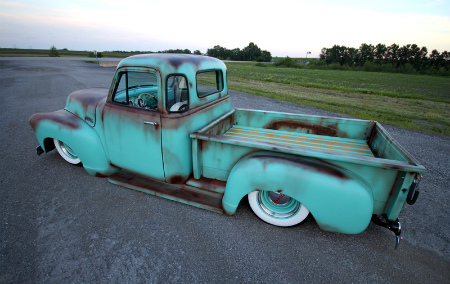 1954 Chevy 3100 short bed Patina Truck2