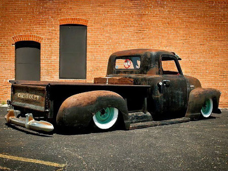 Bagged Chevy Truck, Patina Rat Rod 3100