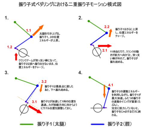 振り子式ペダリング模式図