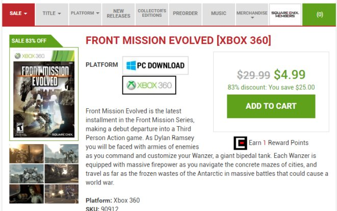 FRONT MISSION EVOLVED [XBOX 360] _ Square Enix Online Store