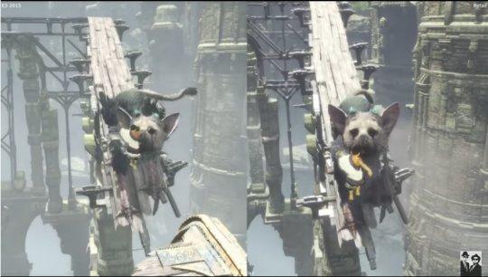 グラフィック比較『人喰いの大鷲トリコ』E3 2015