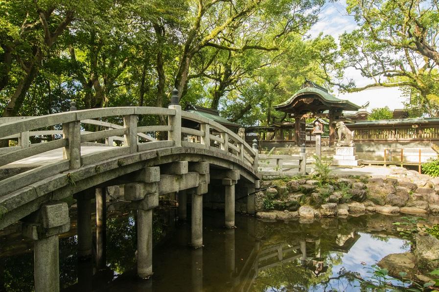 水天宮の太鼓橋