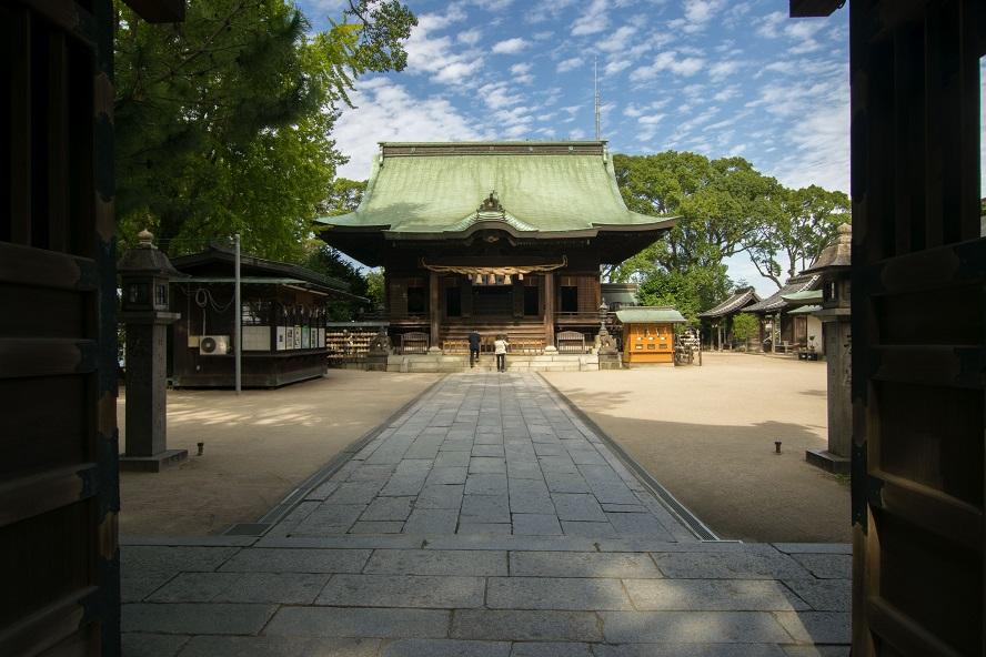 水天宮拝殿1