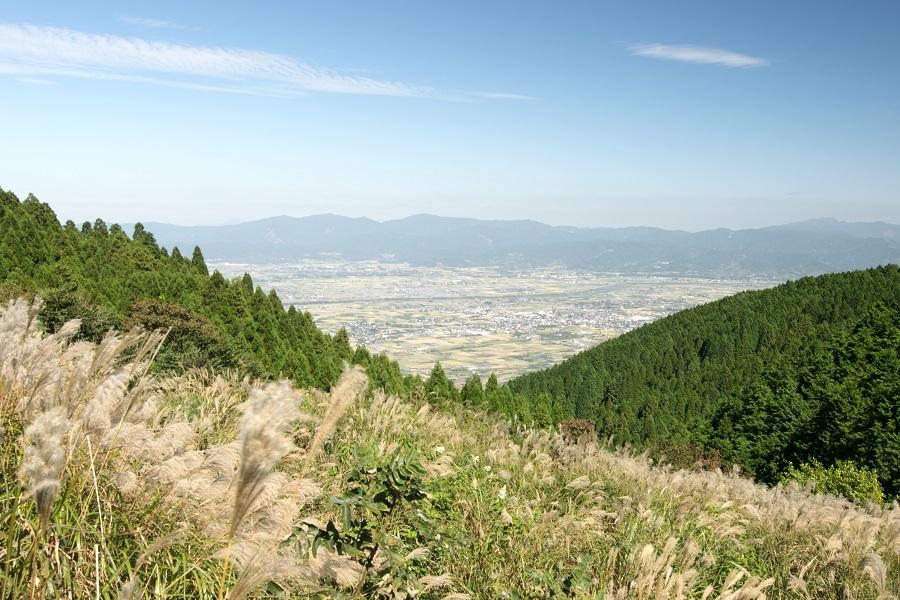 発心山頂から見た筑後平野