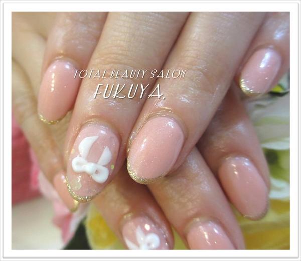 上品ピンク×ぷっくりリボン( *´艸`)♪
