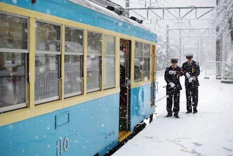 大雪も何のその、定時運行です
