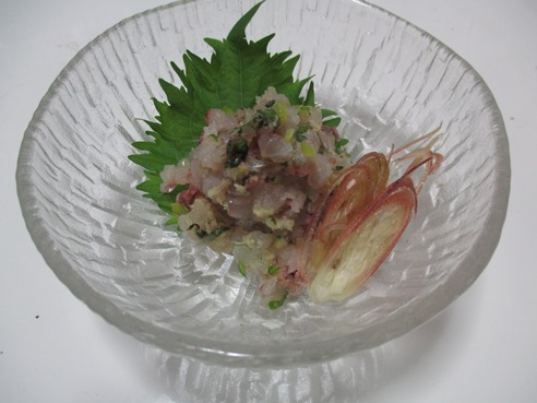 鯵タタキ1