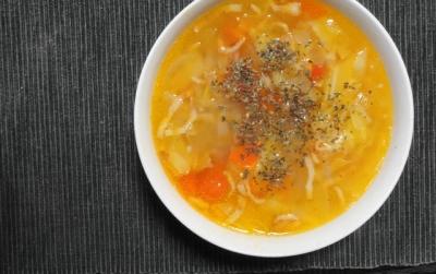 刻み野菜のスープ