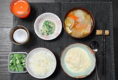 湯葉と豚汁の柔らかご飯セット