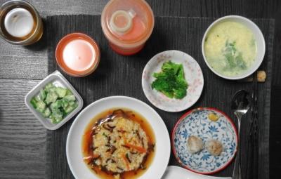 餡かけチャーハン仕様のシウマイ定食