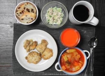 パン・オ・レザンの朝食セット