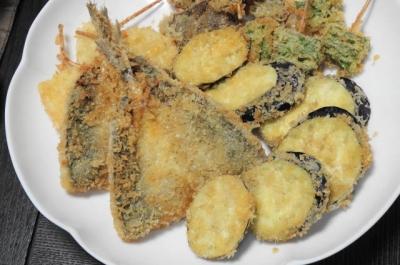アジフライ&野菜揚げセット