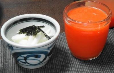山芋のザクザク、人参・りんご・レモンジュース