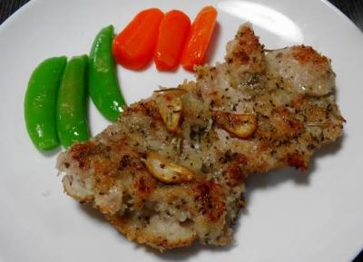 鶏モモ肉のパン粉焼きUP