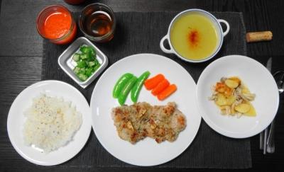 鶏肉のステーキ&リゾットのディナー