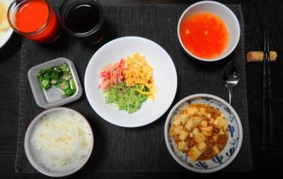 麻婆&サラダ 中華三菜御膳