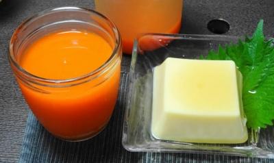 人参・りんご・レモンジュース&玉子豆腐