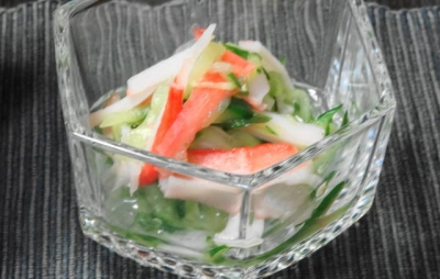 カニカマと胡瓜の酢の物