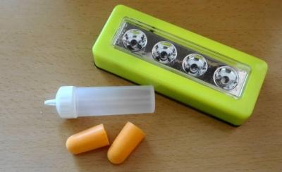 耳栓&LEDライト