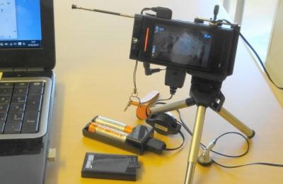 電池式 USBチャージャー